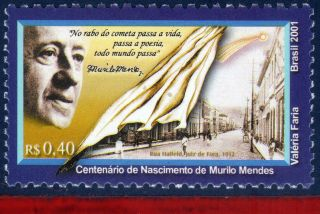 2795 Brazil 2001 - Murilo Mendes,  Poet,  Writer,  Famous People,  Mi 3146, photo