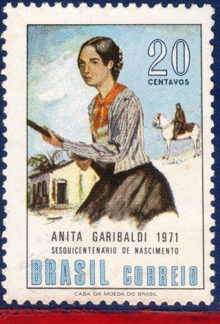 1194 Brazil 1971 Anita Garibaldi,  Heroine In Liberation Of Brazil,  Horse, photo