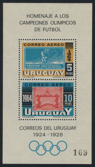 Uruguay C282 Stamp On Stamp,  Olympic Games photo