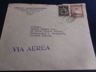 3 Pesos Chile Air Mail Cover Stamp photo