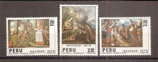 Peru Christmas 1973 Hinged M 1381 photo