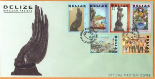 Belize - Fdc Belizean Artists photo