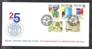 Belize - Fdc Belize 25th Ann.  Of Independence photo