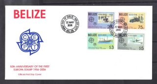 Belize - Fdc 50th Ann.  Of The Europa Stamp photo