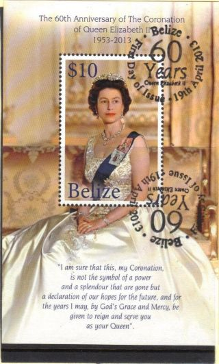 Belize - - Queen Elizabeth ' S 60th Ann Ss With Fdc Cancelation photo