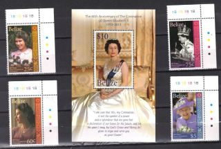 Belize - - Queen Elizabeth ' S 60th Ann photo