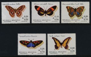 Argentina B111 - 5 Butterflies photo
