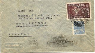 Brazil1941 Airmail Rio De Janeir - Montevideo Postage Sociology Census photo