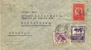 Brazil1941 Airmail Rio De Janeir - Montevideo High Postage Unusual photo