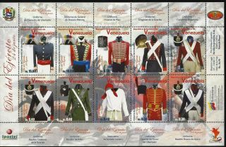Venezuela 2011 Day Of The Army - Military Uniforms - Sheet 10 photo