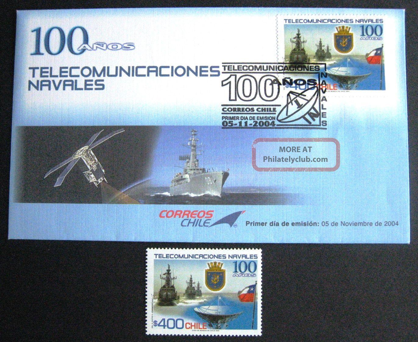 Chile: 2004.  Sobre Primer Dia De Emisión Y Sello Mnh/og Latin America photo