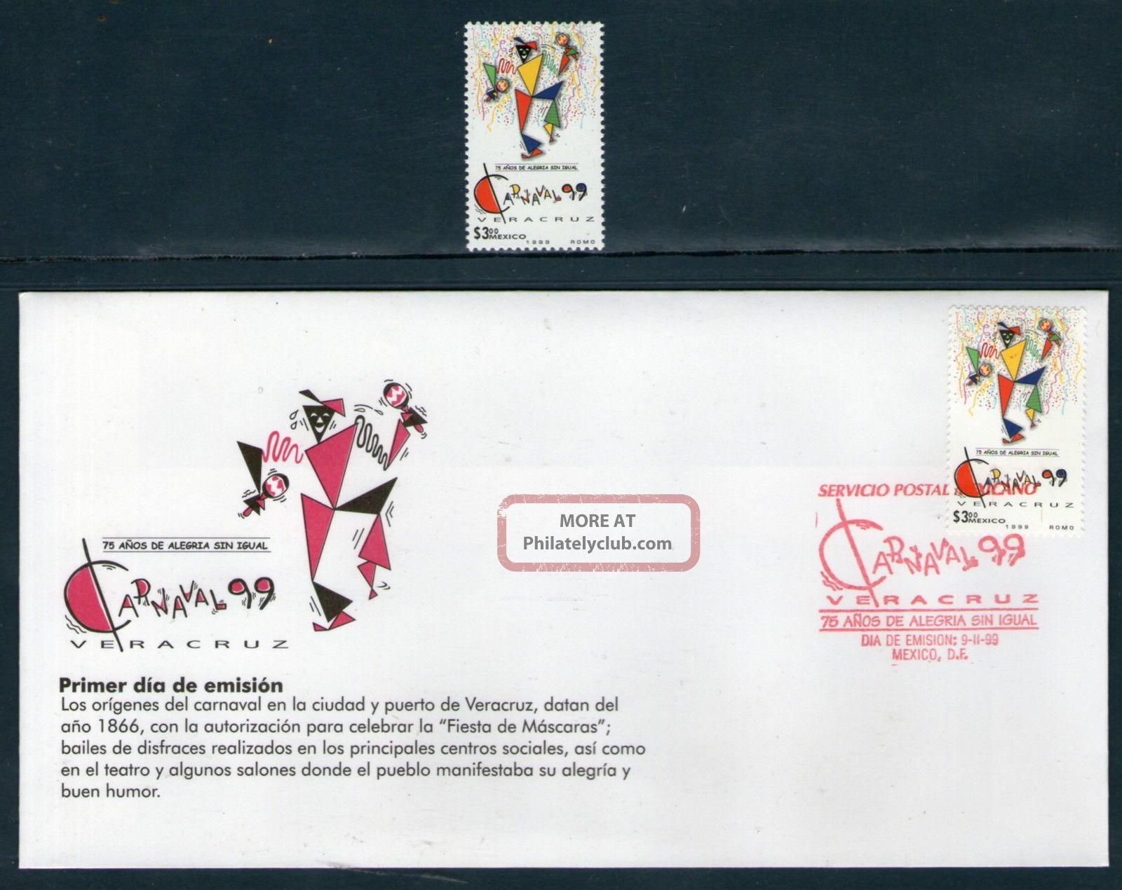 2114fd Mexico 1999 - Carnival Veracruz,  75 Years,  Costumes,  Sc 2114,  Mi 2766 Latin America photo