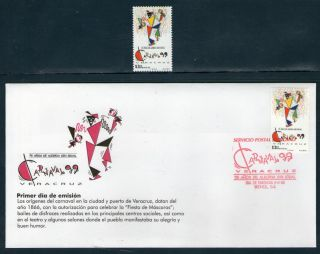 2114fd Mexico 1999 - Carnival Veracruz,  75 Years,  Costumes,  Sc 2114,  Mi 2766 photo