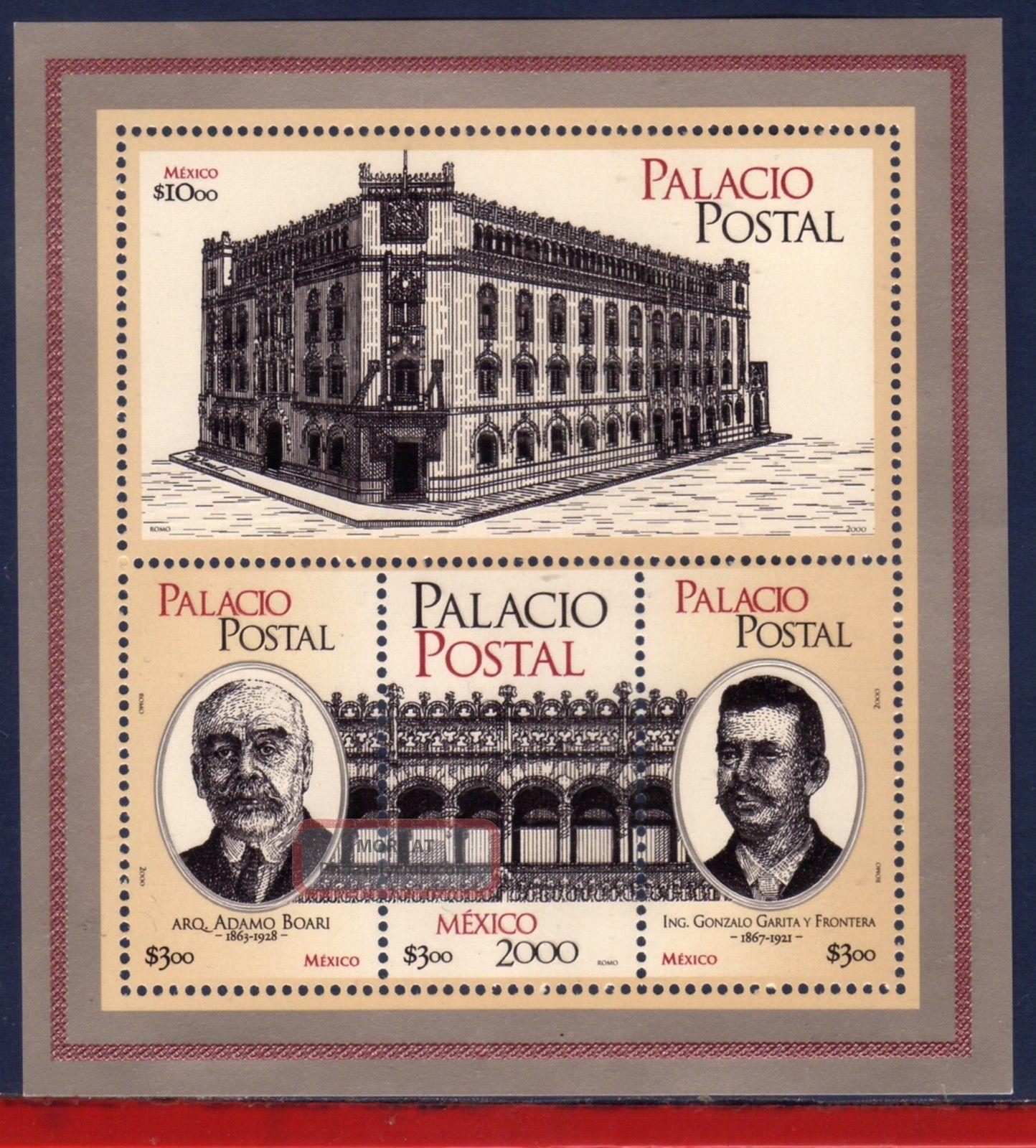 2219 - Mexico 2000 - Postal Palace,  Post,  Mi B57,  S/s Latin America photo