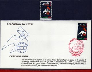 2051fd Mexico 1997 - World Postal Day,  Post,  Dove,  Mi 2655,  Sc 2051 photo