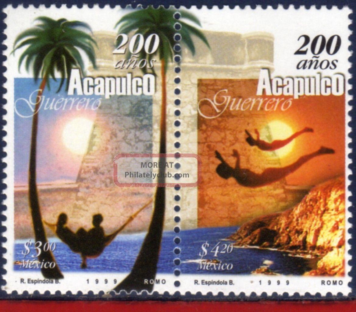 2115 - 16 Mexico 1999 - Acapulco,  200th Anniv. ,  Cities,  Nature,  Mi 2767 - 68 Latin America photo
