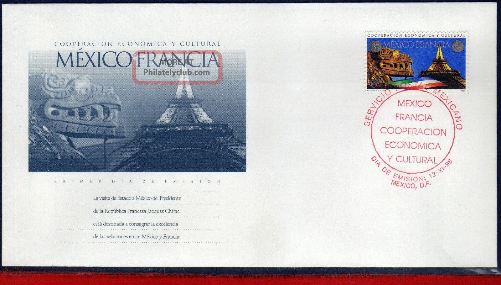 2105fd Mexico 1998 - Cooperation France,  Cultura & Economic,  Mi 2752,  Fdc Latin America photo