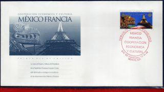 2105fd Mexico 1998 - Cooperation France,  Cultura & Economic,  Mi 2752,  Fdc photo