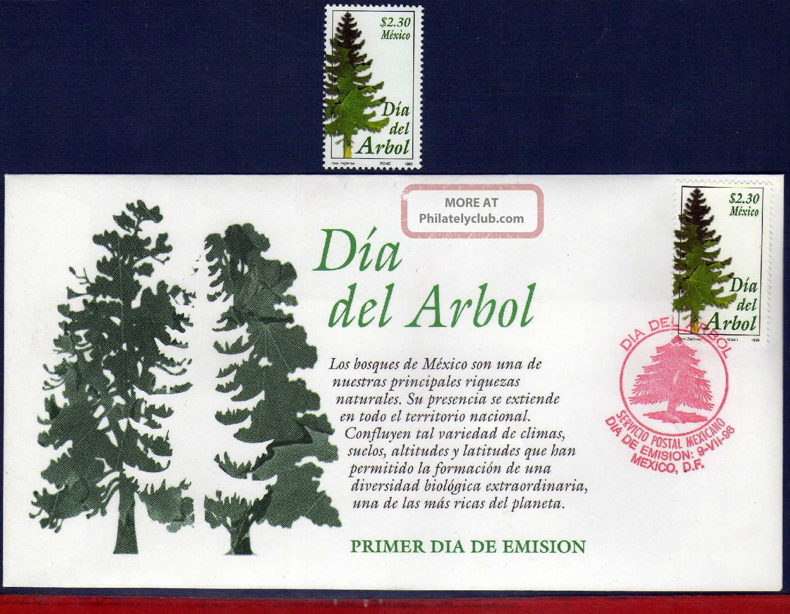 2083fd Mexico 1998 - Arbor Day,  Tree,  Flowers & Plants,  Mi 2703 Latin America photo