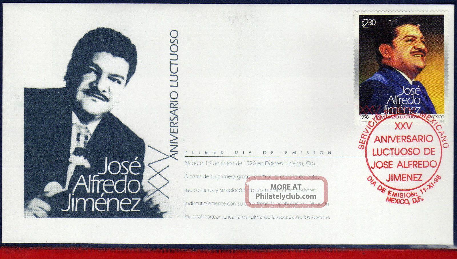 2103fd Mexico 1998 - Jose Alfredo Jimenez,  Composer,  Famous People,  Mi 2751, Latin America photo