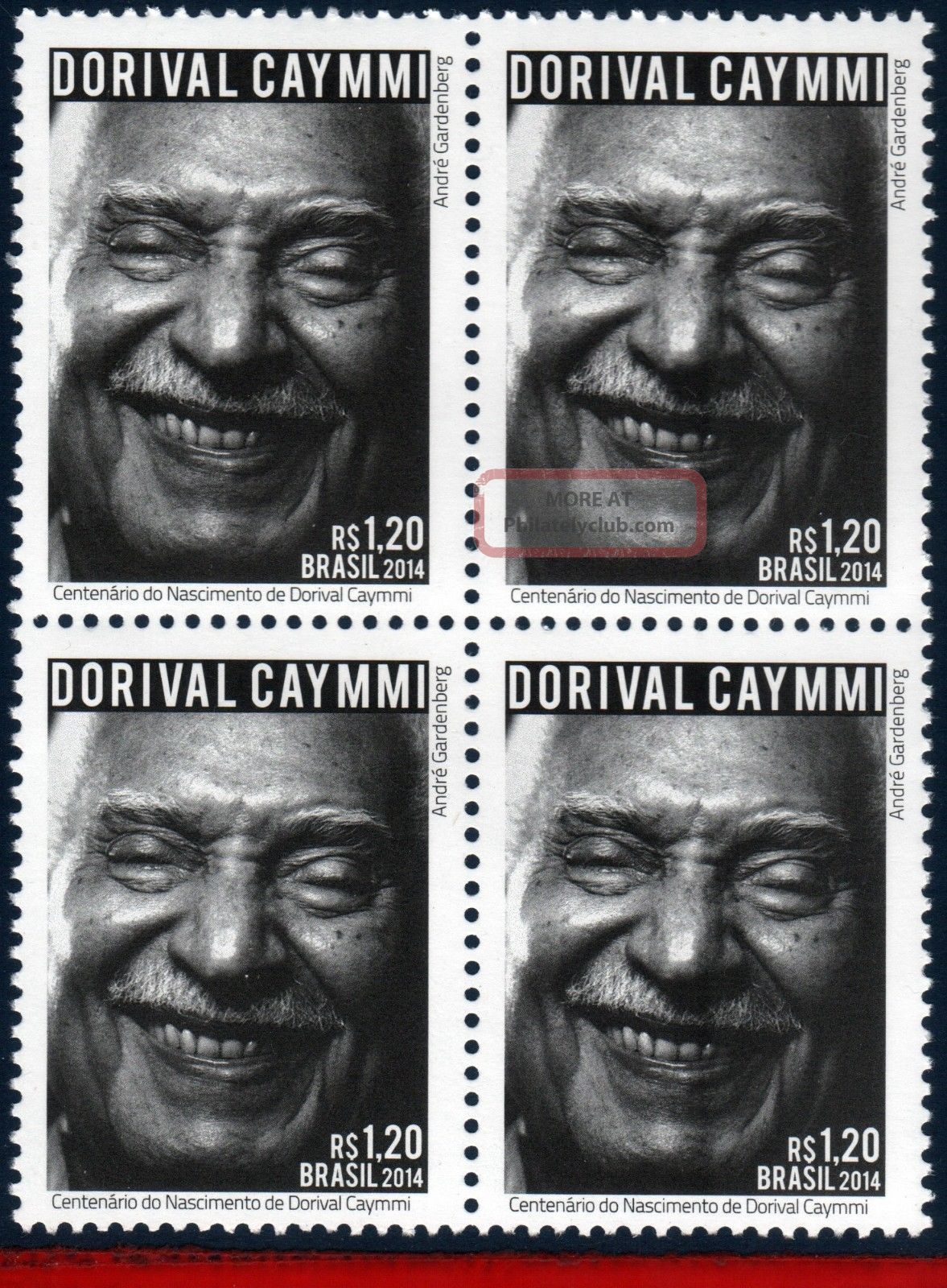 14 - 07q Brazil 2014 Dorival Caymmi,  Composer,  Singer,  Music,  Famous People, Latin America photo