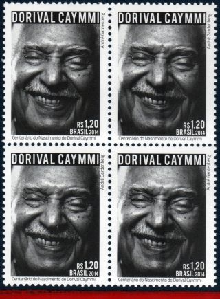 14 - 07q Brazil 2014 Dorival Caymmi,  Composer,  Singer,  Music,  Famous People, photo