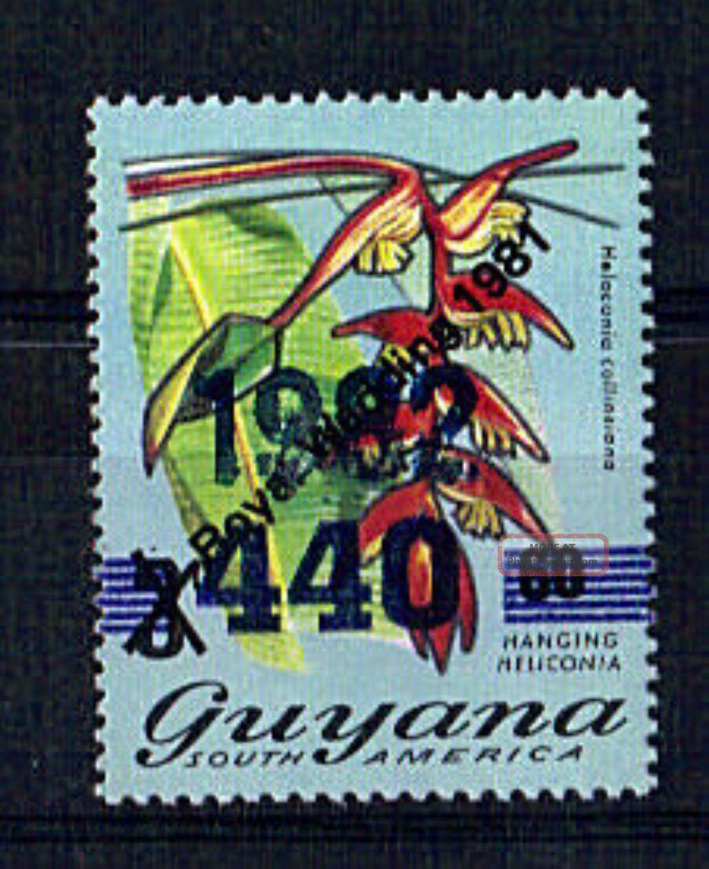 Guyana 1981 Royal Wedding 60c On 3c With 440 Diagonal Overprint Latin America photo