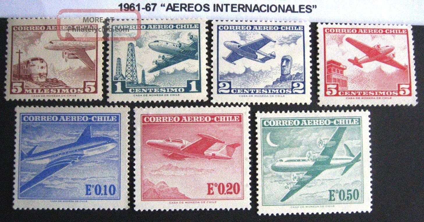 Chile.  1961 - 67.  Aereos Internacionales.  Mnh/og Latin America photo