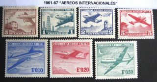 Chile.  1961 - 67.  Aereos Internacionales.  Mnh/og photo