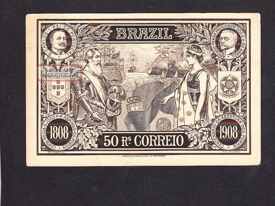 1908 Ship Postal Stationery Card - Brazil - War Ship Latin America photo
