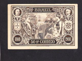 1908 Ship Postal Stationery Card - Brazil - War Ship photo