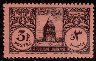 Worldwide: Lebanon 3p Postage Due Ka - 0414 - 86 photo