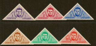Jordan : 1964 President Kennedy Memorial Issue Sg 588 - 93 Unmounted photo