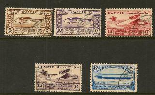 Egypt : 1933 1st Aviation Congress Sg214 - 8 Fine photo