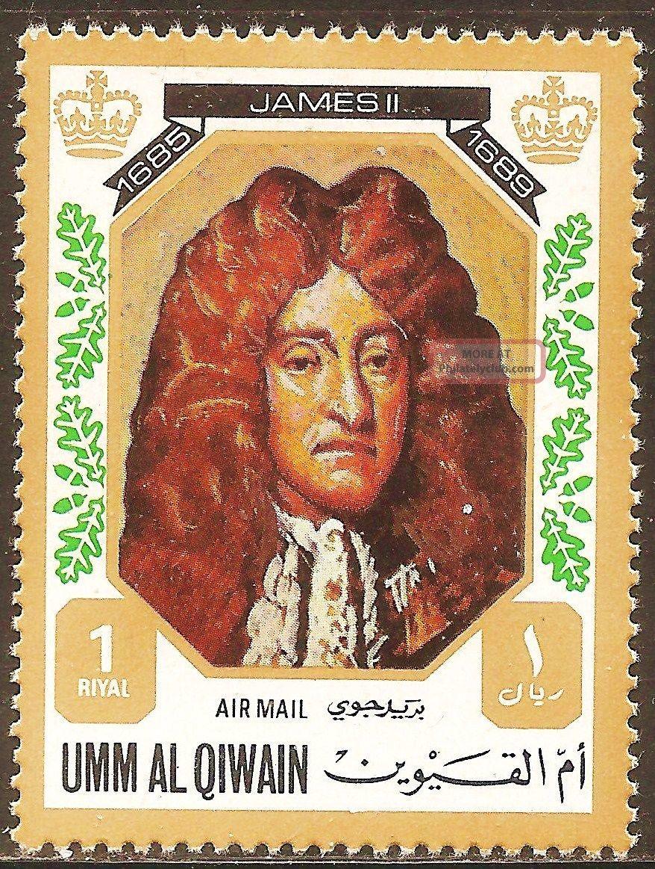 Uae Umm Al Qiwain - 1972 Kings & Queens Of England (james Ii - 1685 - 1689) Middle East photo