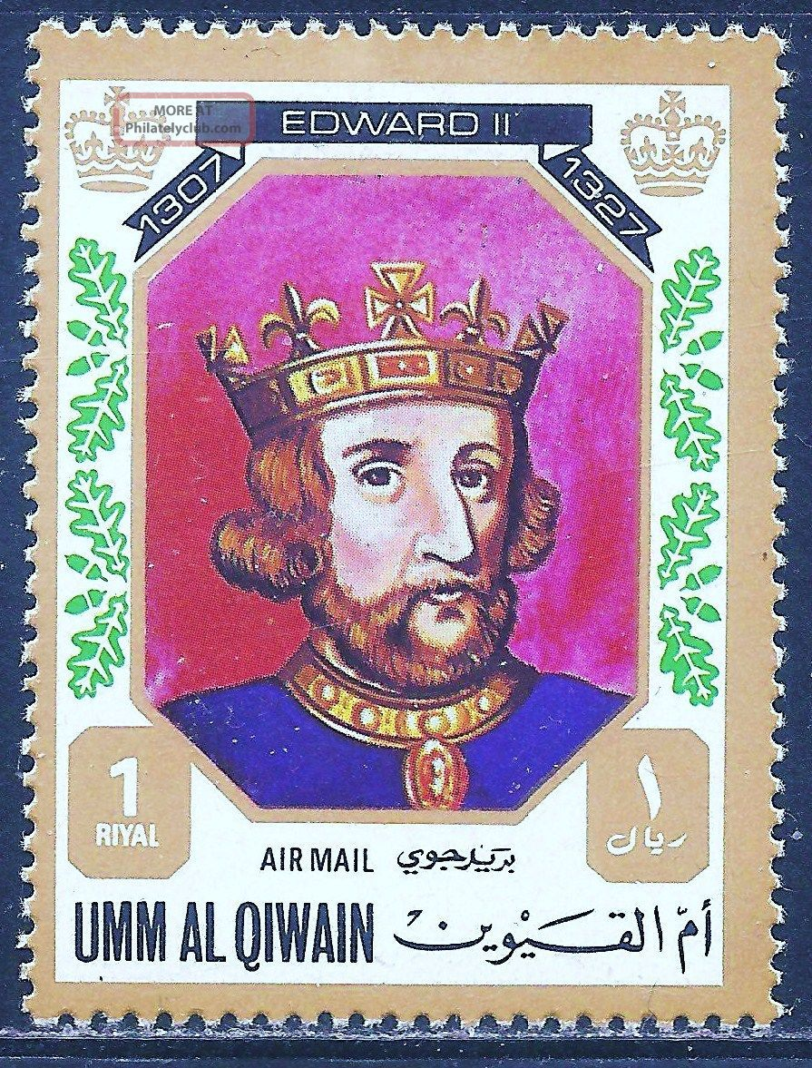 Uae Umm Al Qiwain - 1972 Kings & Queens Of England (edward Ii - 1307 - 1327) Middle East photo