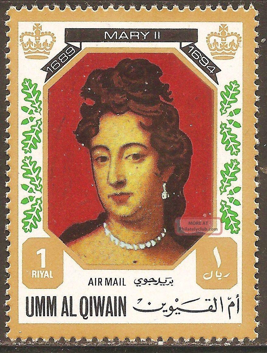 Uae Umm Al Qiwain - 1972 Kings & Queens Of England (mary Ii - 1689 - 1694) Middle East photo