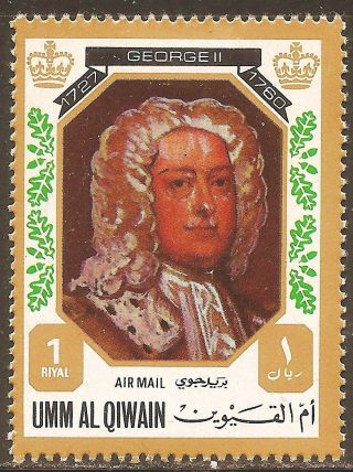Uae Umm Al Qiwain - 1972 Kings & Queens Of England (george Ii - 1727 - 1760) photo