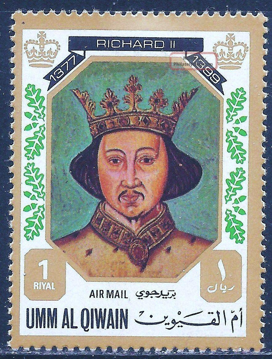 Uae Umm Al Qiwain - 1972 Kings & Queens Of England (richard Ii - 1377 - 1399) Middle East photo