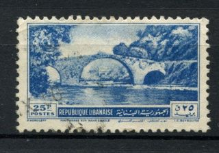 Lebanon 1951 Sg 436 25p Bridge A38970 photo