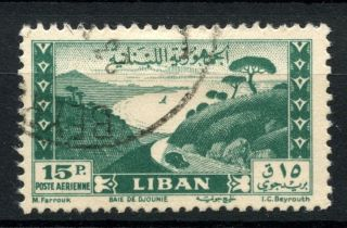 Lebanon 1948 Sg 403,  15p Air Jounieh Bay A38999 photo