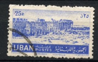 Lebanon 1952 Sg 451,  25p Baalbek A38971 photo