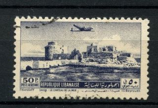 Lebanon 1950 Sg 443,  50p Air A39001 photo