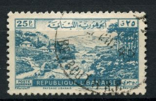 Lebanon 1948 Sg 377,  25p Air,  Landscape A38996 photo