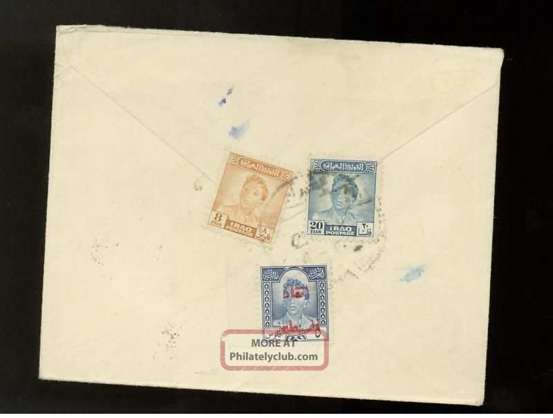 1950s Iraq Airmail Cover To Usa Middle East photo
