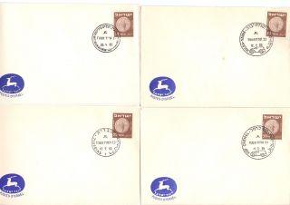 Postal History 1955 Cover Judaica Scott 43 Envelope 4 Post Office Opening photo