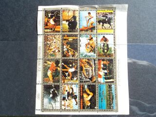 Ajman State: Minisheet Commemorative Munich ' 72 photo