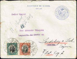 2672 Chile To Germany Cover 1929 Presidentes Serie Santiago - Berlin photo