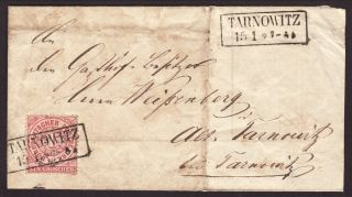 Postal History 1871 North German Confederation With Tarnowitz Postmark photo
