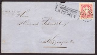 Postal History 1868 Cover Grerman State Of Bavaria photo